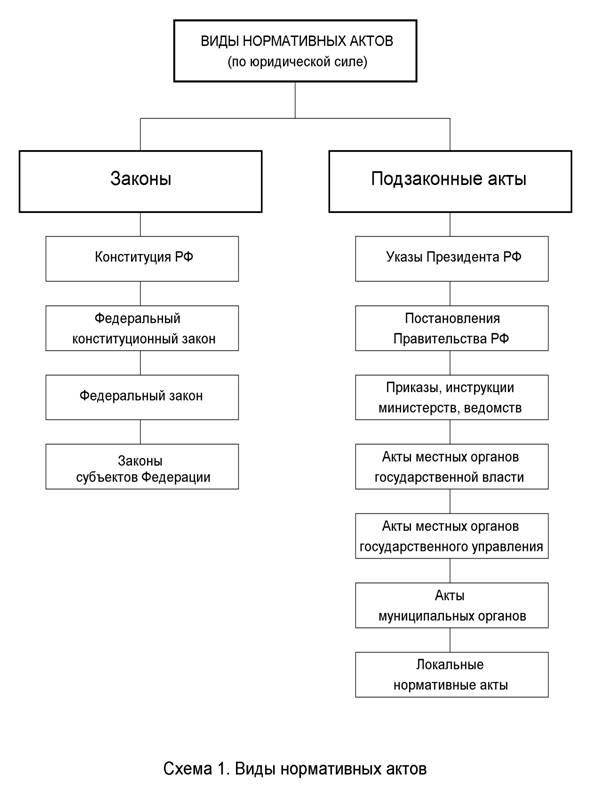 Схема иерархии источников права фото 26